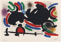 from miro lithographs (sold with 246b&c; set of 3) by joan miró