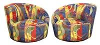 nautilus swivel chairs (set of 2) by vladimir kagan