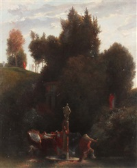 reigen in römischem garten by arnold böcklin the elder