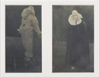nijinski on stage (2 works in 1 frame) by adolph de meyer