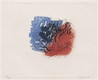 l'arbre (sold with 256b; set of 2) by jean fautrier