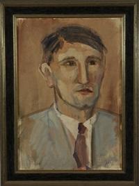 portrait eines jungen mannes im hellblauen anzug mit krawatte by hans hubertus von merveldt
