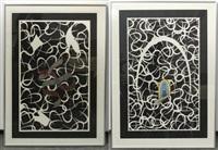ribbon and hook (pair) by lucas samaras