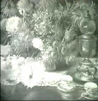 still life with zinnias by theodore p. modra