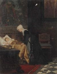 mutter wacht über das schlafende kind by carl rudolph sohn