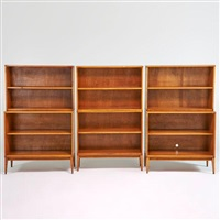 planner group stacking cabinets (2) and bookcases (4) each with base by paul mccobb