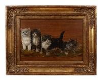 vier kätzchen auf stroh by julius adam the younger