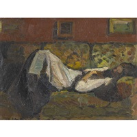 femme couchée by paul basilius barth
