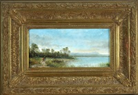landschaft am ammersee by ludwig frey