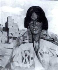 indian near a pueblo by hans paap