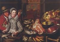 küchenstilleben mit einem mann und einer frau by cornelis jacobsz. delff