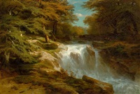wasserfall by alexandre calame