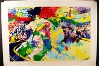 wrestlers by leroy neiman
