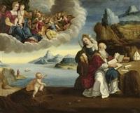 vision des heiligen augustinus by benvenuto tisi da garofalo