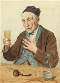 der letzte absinth by albert anker