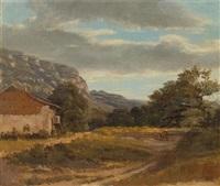 kleine landschaft mit savoyarischem haus by alexandre calame