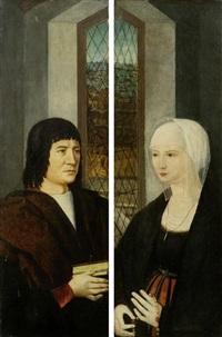 gegenstücke: ehepaarbildnisse (pair) by hans memling