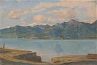 quai du bouveret en face de montreux by francois-louis-david bocion