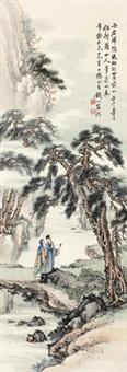 拟新罗山人笔意 立轴 设色纸本 by qian xiong