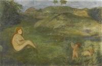 nymphe im wiesengrund als repräsentantin der urzeit (fragment) by arnold böcklin the elder