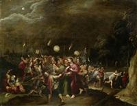 garten getsemani, judaskuss, gefangennahme und ergreifung christi by hieronymus francken iii