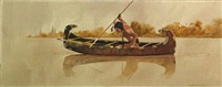 indian fishing by david allen halbach