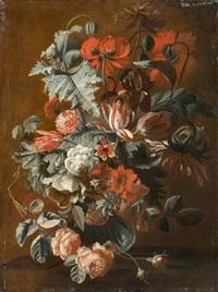 blumenstillleben in einer vase by simon pietersz verelst