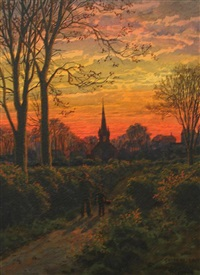 church near bowden, cheshire, england by peter caledon cameron