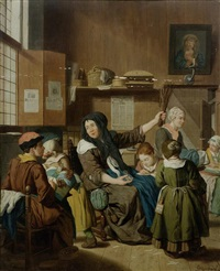 kinder in der handarbeitsschule by jan josef horemans the younger