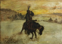 mounted indian by astley david middleton cooper