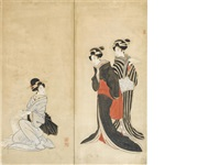 three beauties by japanese school-ukiyo-e (19)