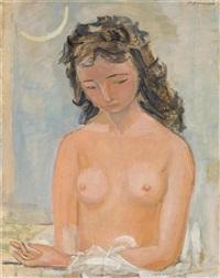 sitzender weiblicher akt by maurice barraud