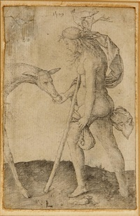 woman with the hind by lucas van leyden
