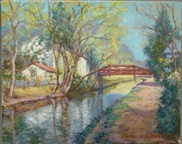 spring on the canal by tatiana alexeeva