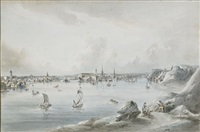 utsikt af stockholm tagen ifrån långholmen by johan fredrik martin