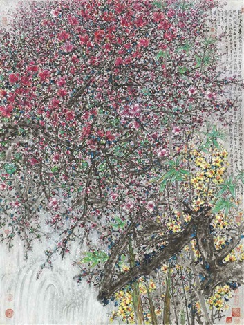 plum blossoms by xiao huirong