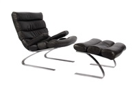 lounge chair mit ottoman