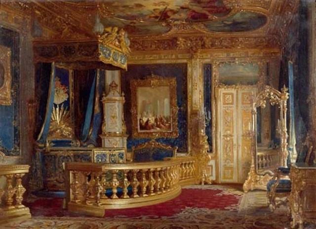 Schlafzimmer Ludwig II. in der Münchner Residenz von Pancraz Koerle ...