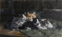 fünf liegende kätzchen by julius adam the younger