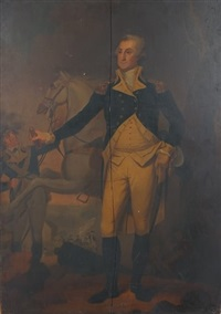 general washington at trenton by john trumbull