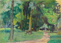 promenade au bois by pierre bonnard