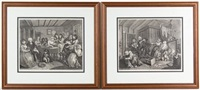 a harlot's progess (plates i-vi) by william hogarth