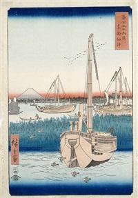 vier ôban-tate-e (4 works) by ando hiroshige