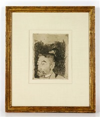 portrait of stephane mallarme by paul gauguin