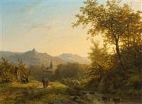landschaft im rheingau by johann bernard klombeck
