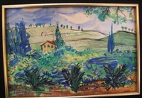 paysage de provence by raoul dufy
