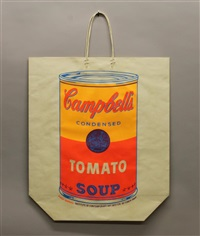 campbell's soup can on a shopping bag by andy warhol