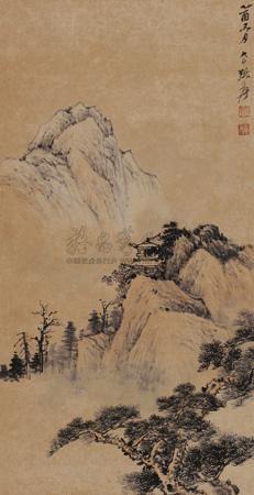 层峦幽寺 by zhang daqian