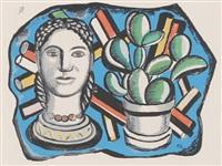 frauenbüste mit kaktus by fernand léger