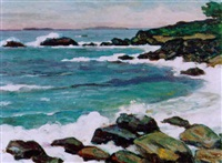 découpures de la côte près de roscoff by francois henri morisset